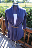 RUCHED BACK TAILORED CARDIGAN