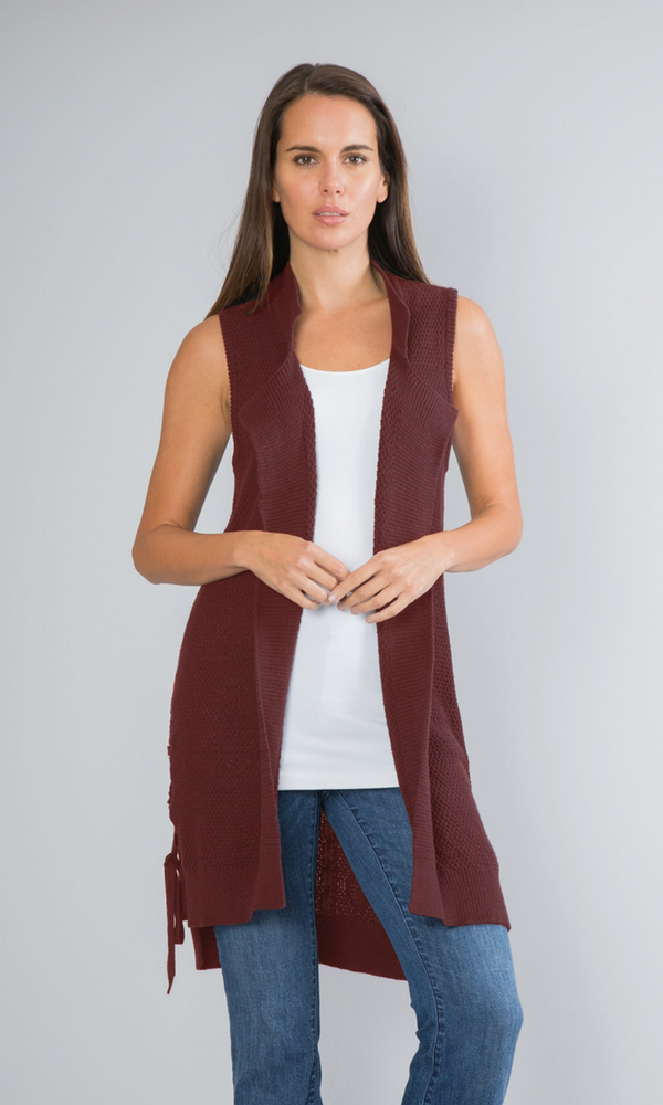 Tied Up Sweater Vest by Simply Noelle