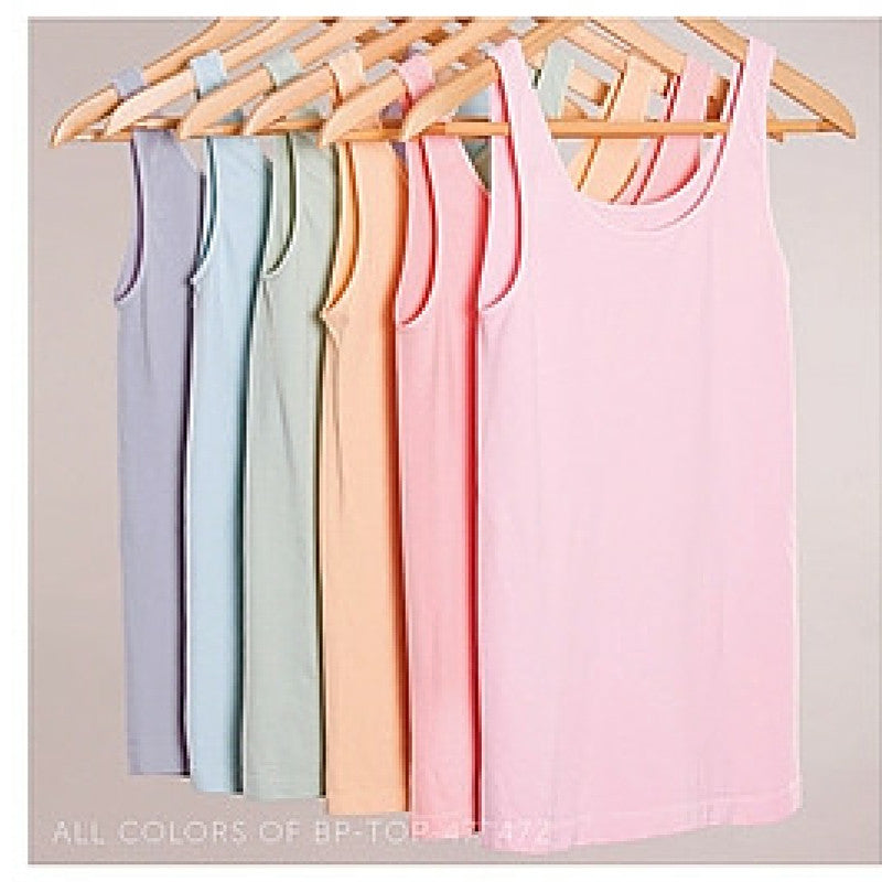 Wide Strap Women's Tank Top 6 Colors Fits Sizes S-XL
