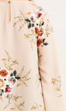 Floral Print A-Line Blouse with Bell Sleeves