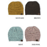 C C Beanie Ribbed Confetti Knit Hat