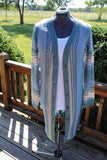 LONG BUTTON STRIPE CARDIGAN