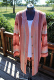 LONG BUTTON STRIPE CARDIGAN by Simply Noelle