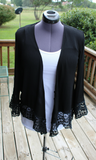 Women's Relic Cover Up Jacket Black/White