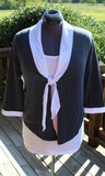 Women's Sailor Tie,  Two Tone Top