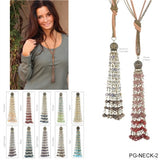 Long Crystal Tassel Necklace by Simply Noelle