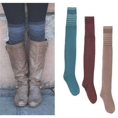 Stripe Boot Sock by Simply Noelle