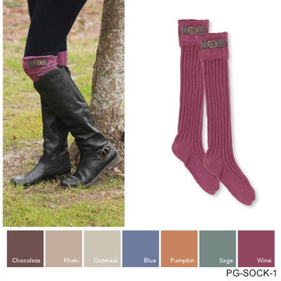 Boot Socks w/Buckle by Simply Noelle