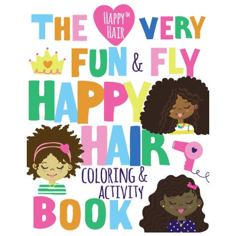 Happy hair presents the very fun fly happy hair coloring activity