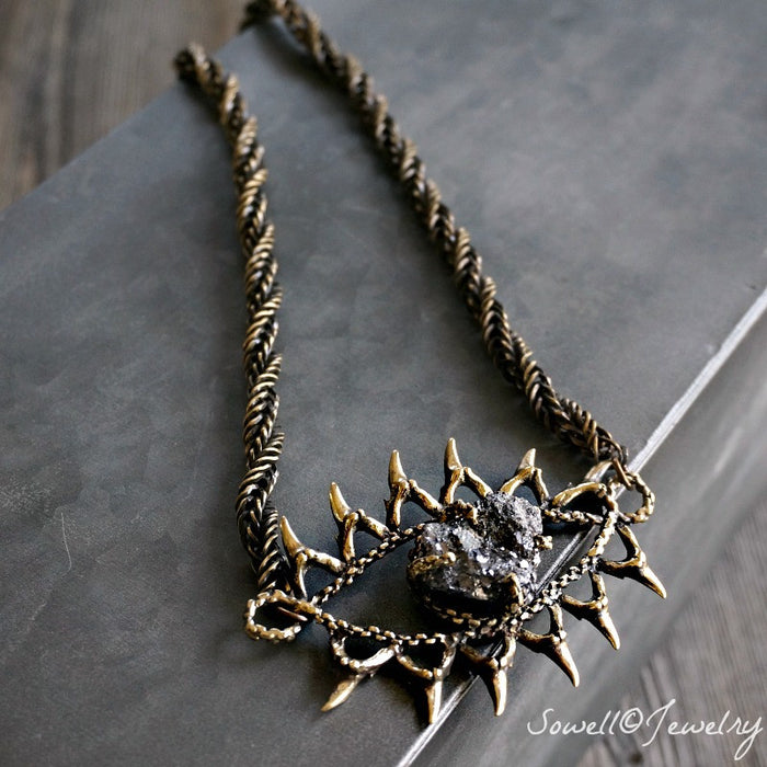 Pyrite Evil Eye Necklace - SOWELL JEWELRY