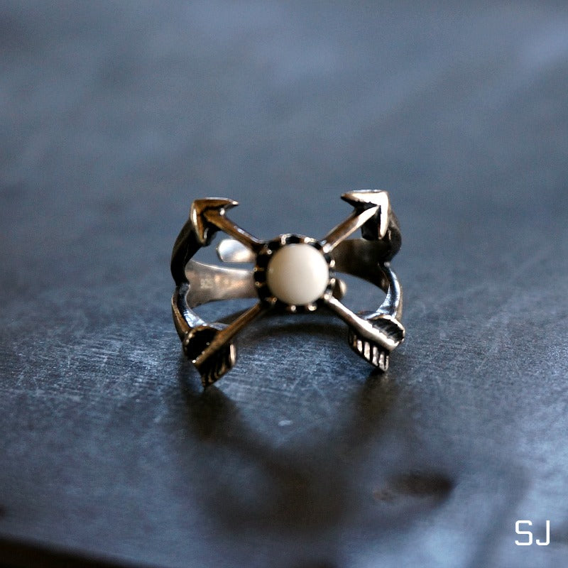 Mia Arrow White Agate Ring - SOWELL JEWELRY