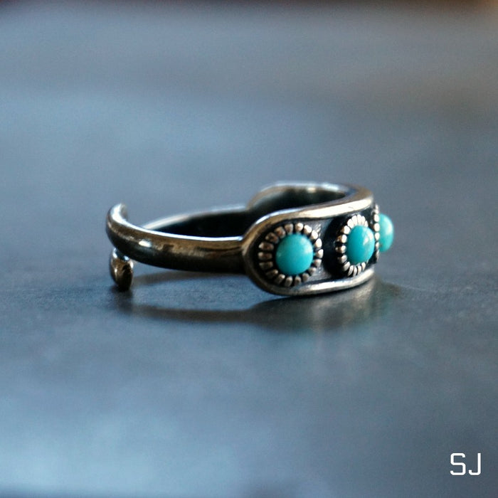 Hachi Turquoise Ring Band - SOWELL JEWELRY