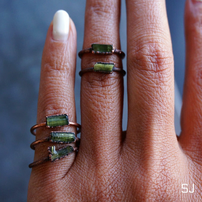 Raw Tourmaline Stack Ring - SOWELL JEWELRY