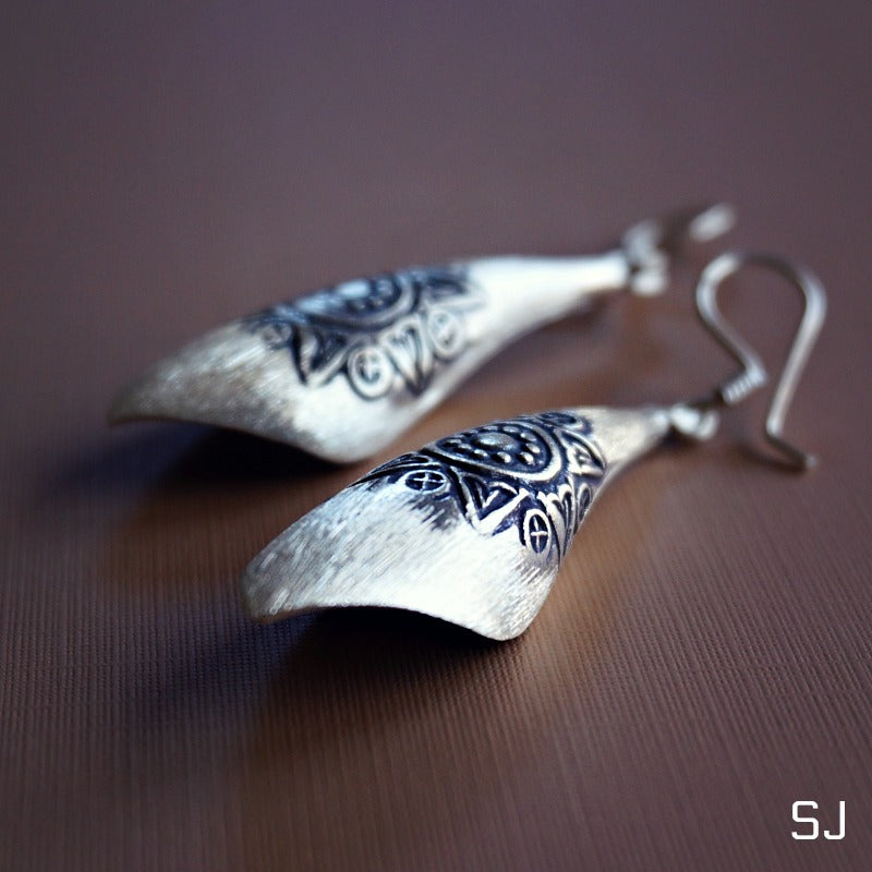 Buribun Silver Earrings - SOWELL JEWELRY