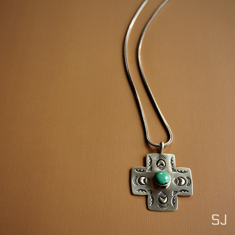 Etenia Turquoise Necklace - SOWELL JEWELRY