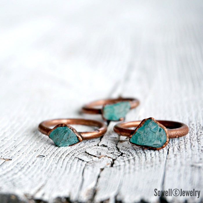 Raw Apatite Ring - SOWELL JEWELRY