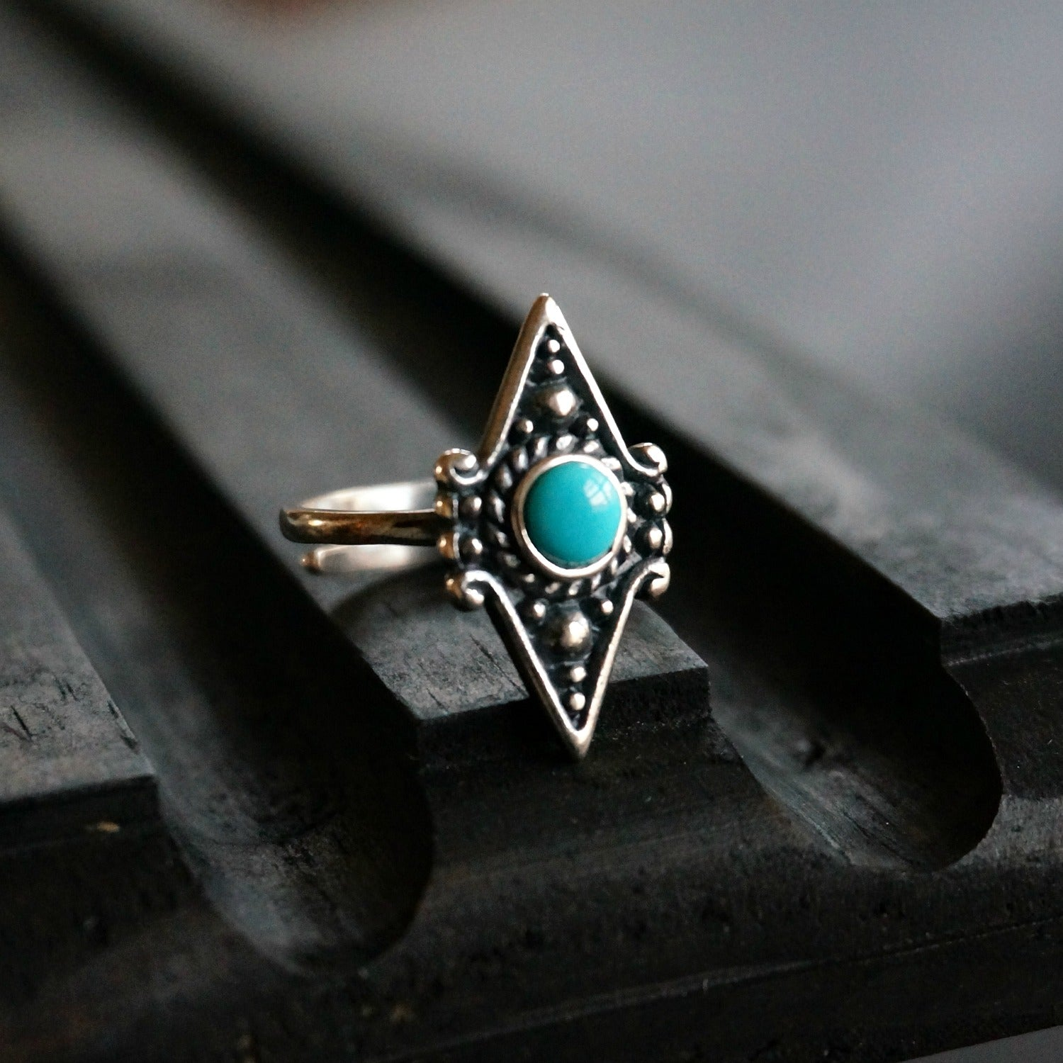 Akule Turquoise Ring - SOWELL JEWELRY