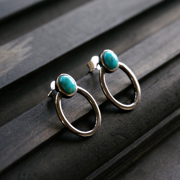 Sani turquoise Hoop Earrings