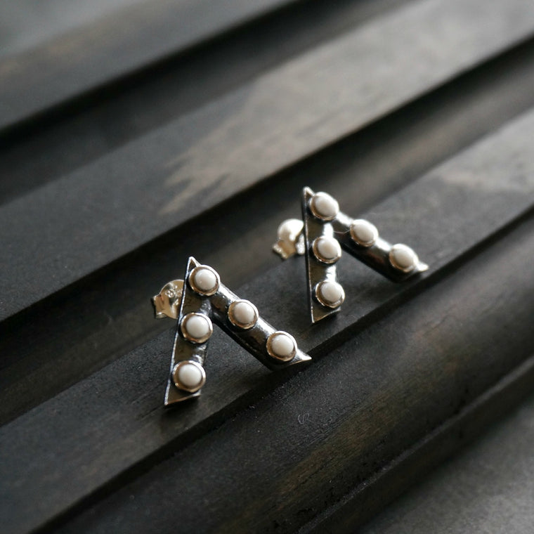 Jacy Stud Earrings - SOWELL JEWELRY