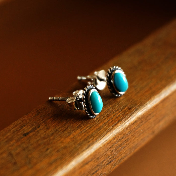 Fala Turquoise Stud Earrings - SOWELL JEWELRY