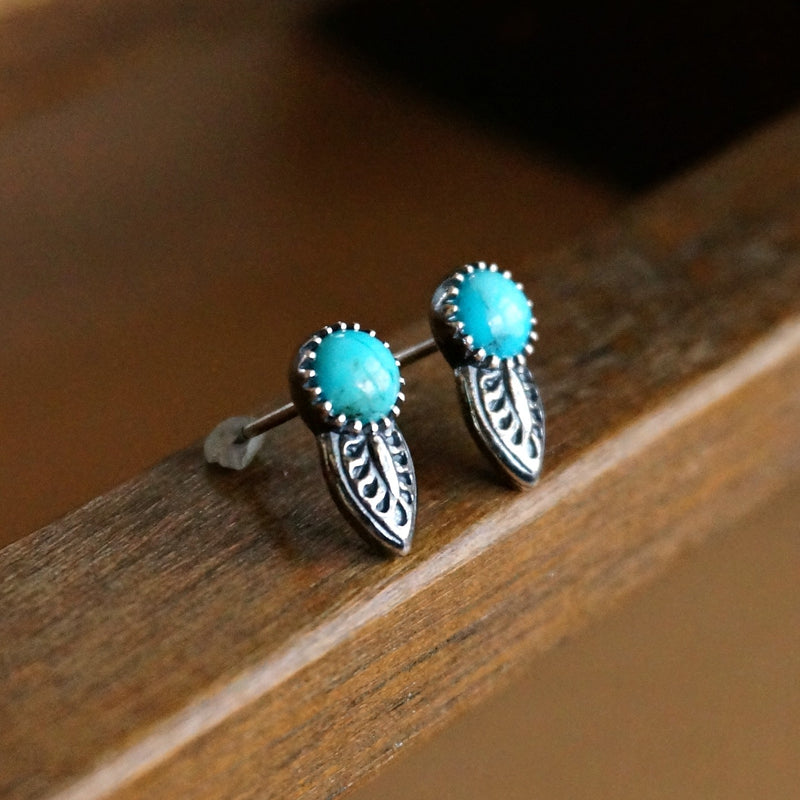 Angelica Turquoise Stud Earrings - SOWELL JEWELRY