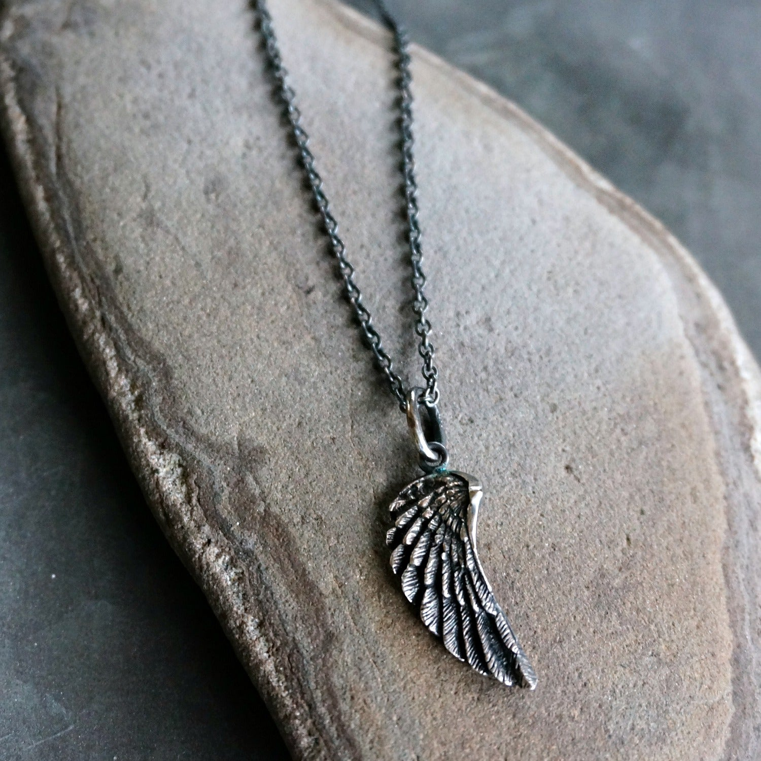 Petite Silver Wing Pendant - SOWELL JEWELRY