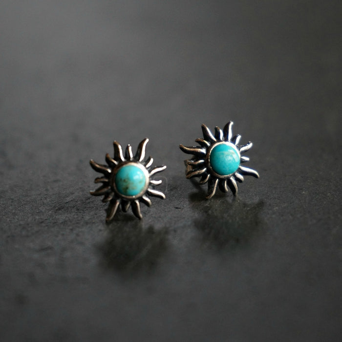 Sunburst Turquoise Earrings - SOWELL JEWELRY