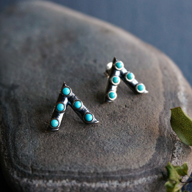 Jacy turquoise Earrings - SOWELL JEWELRY