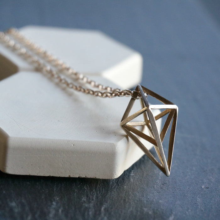 Rhombus Silver Pendant - SOWELL JEWELRY