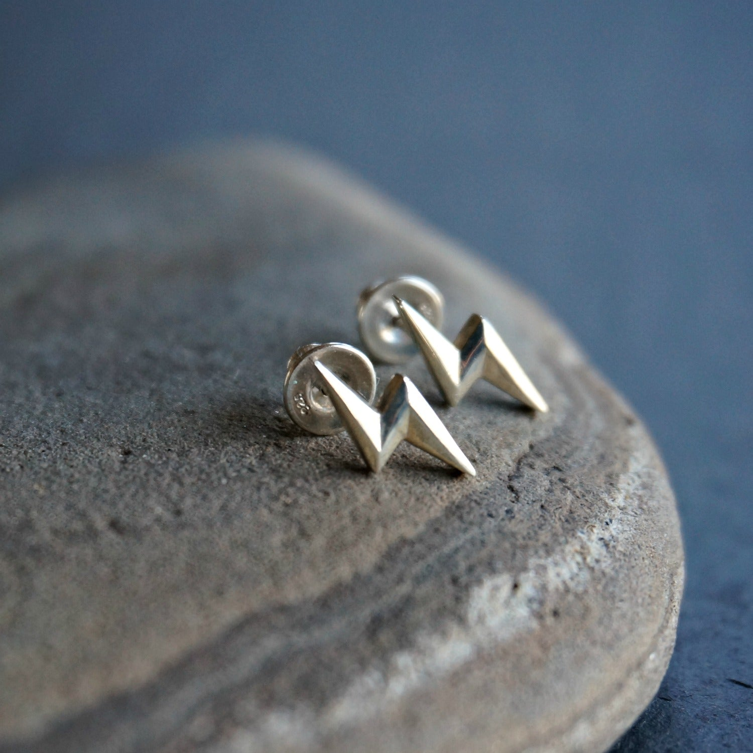 Silver Bolt Stud Earrings - SOWELL JEWELRY