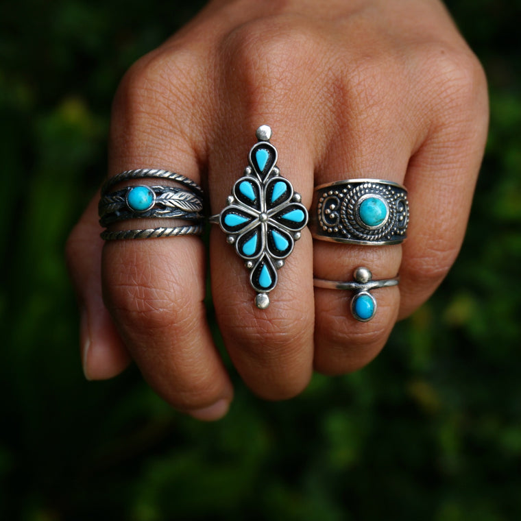 Olivia Turquoise Ring - SOWELL JEWELRY