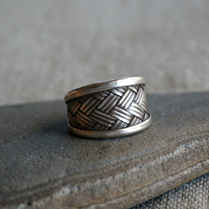 Seth Silver Woven Band - SOWELL JEWELRY