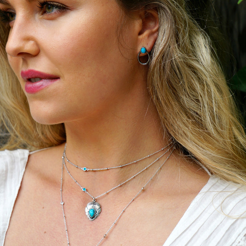 Avena Turquoise Delicate Necklace - SOWELL JEWELRY