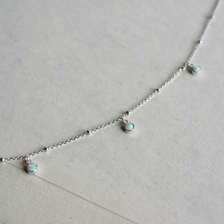 3 Stone Opal Anklet - SOWELL JEWELRY
