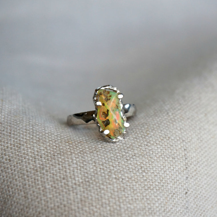 Raw Ethiopian Opal Ring