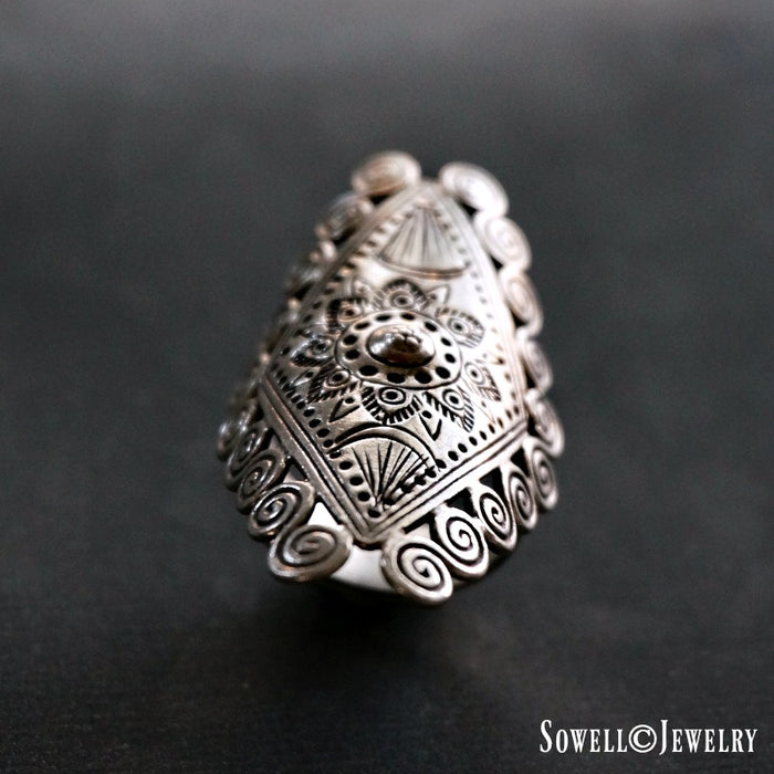 Aawut Sterling Silver Ring - SOWELL JEWELRY