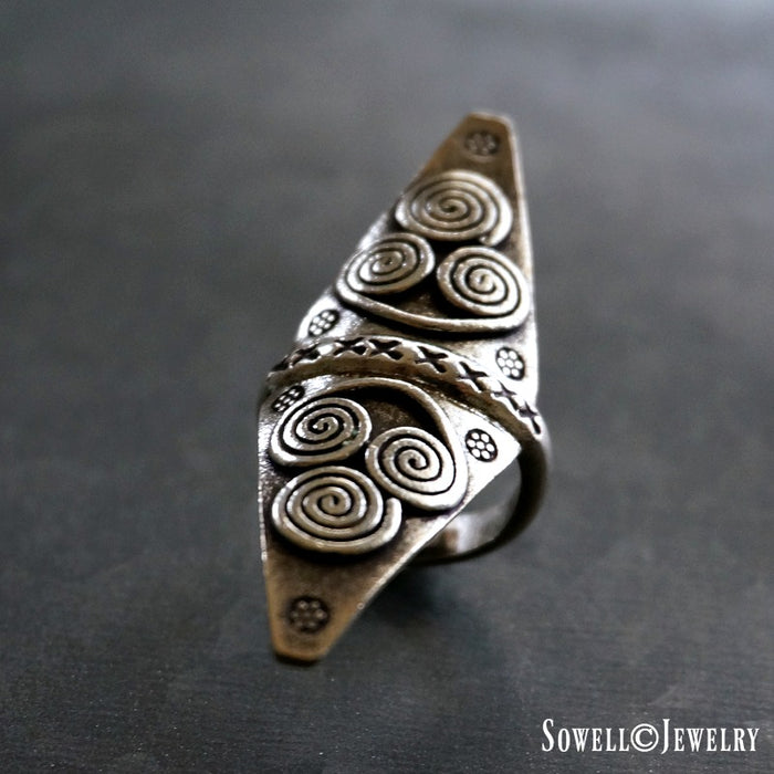 Anada Sterling Silver Ring - SOWELL JEWELRY