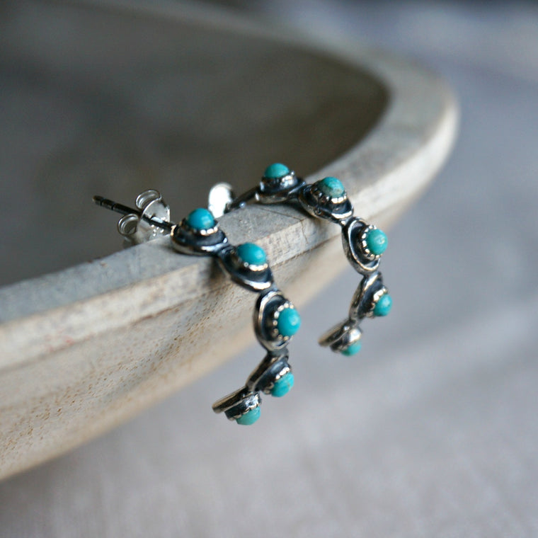 Sam Turquoise Hoop Earrings