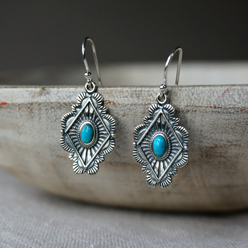 Leif Turquoise Earrings - SOWELL JEWELRY