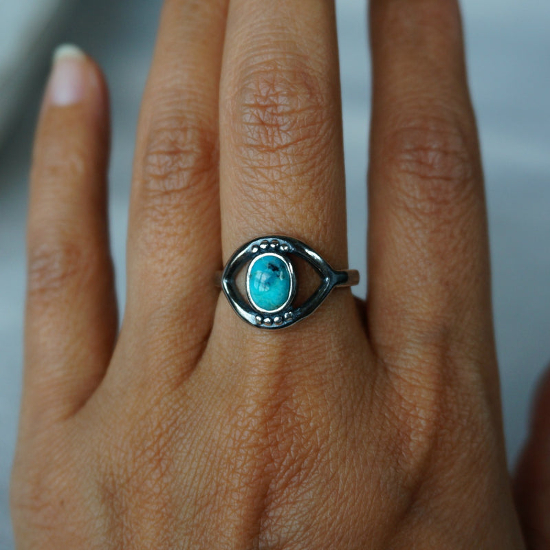 Evil Eye Turquoise Ring - SOWELL JEWELRY