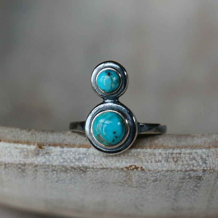 Arc Turquoise Ring - SOWELL JEWELRY