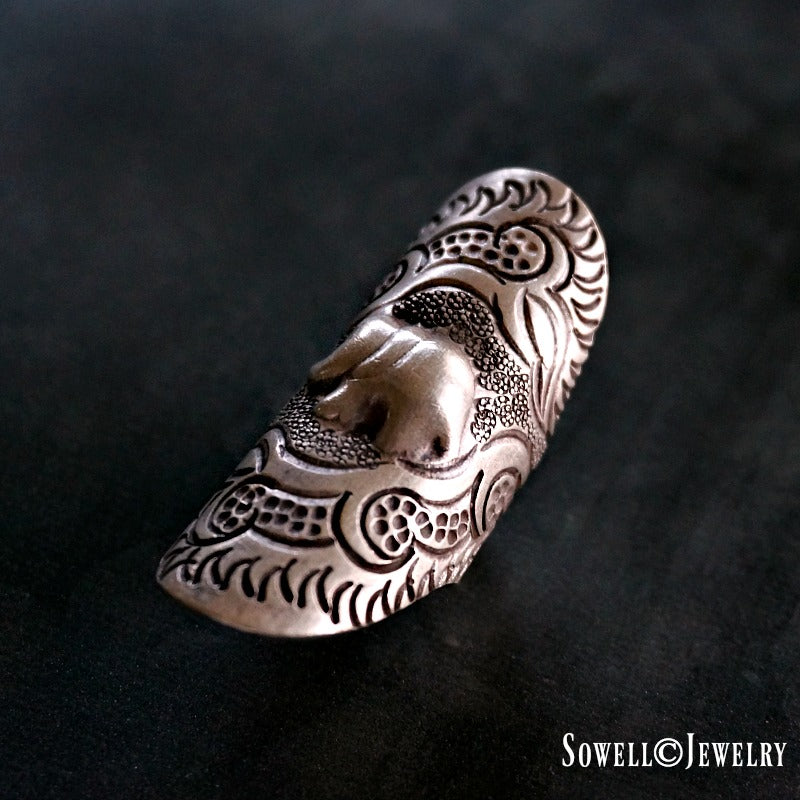 Aat Silver Elephant Ring - SOWELL JEWELRY