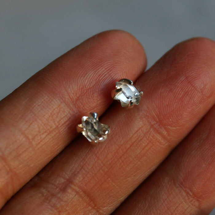 Lia Herkimer Diamond Stud Earrings - SOWELL JEWELRY