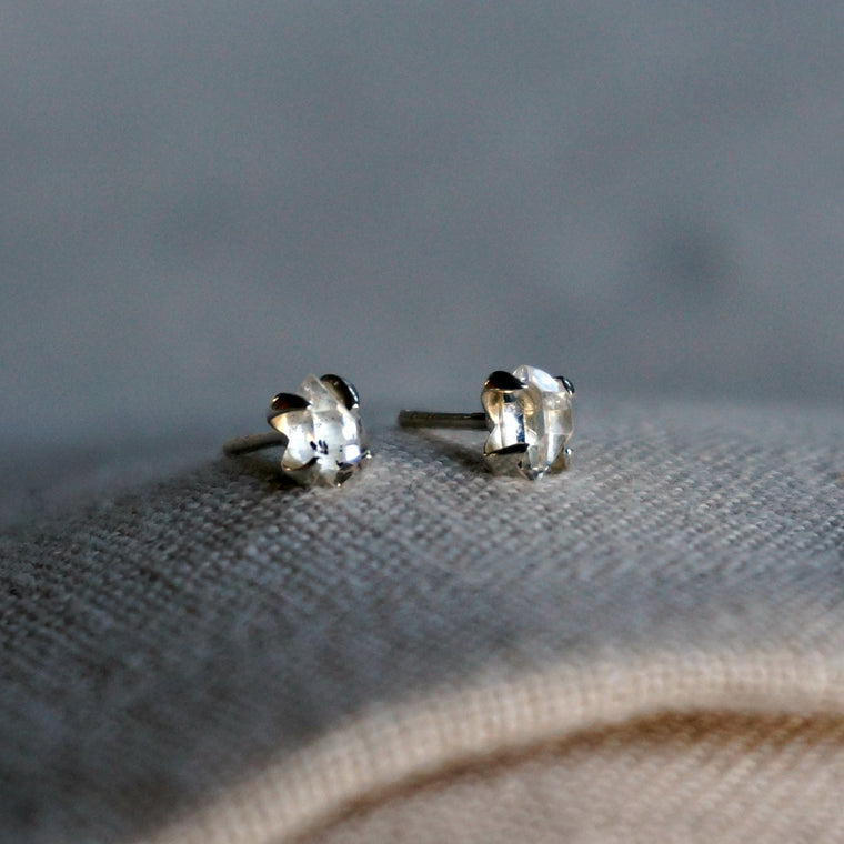 Lia Herkimer Diamond Stud Earrings