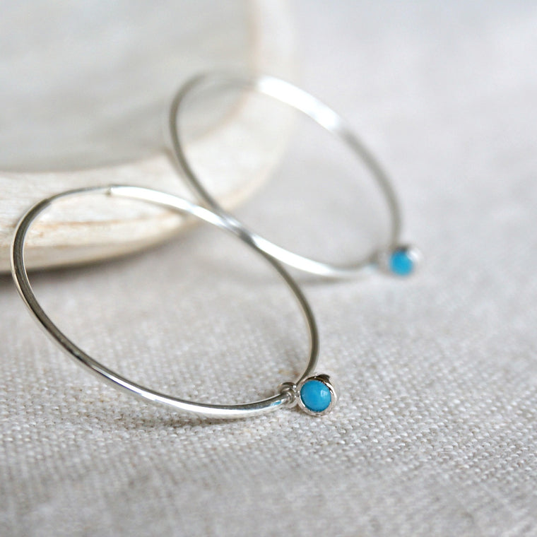 Avena Turquoise Hoop Earrings