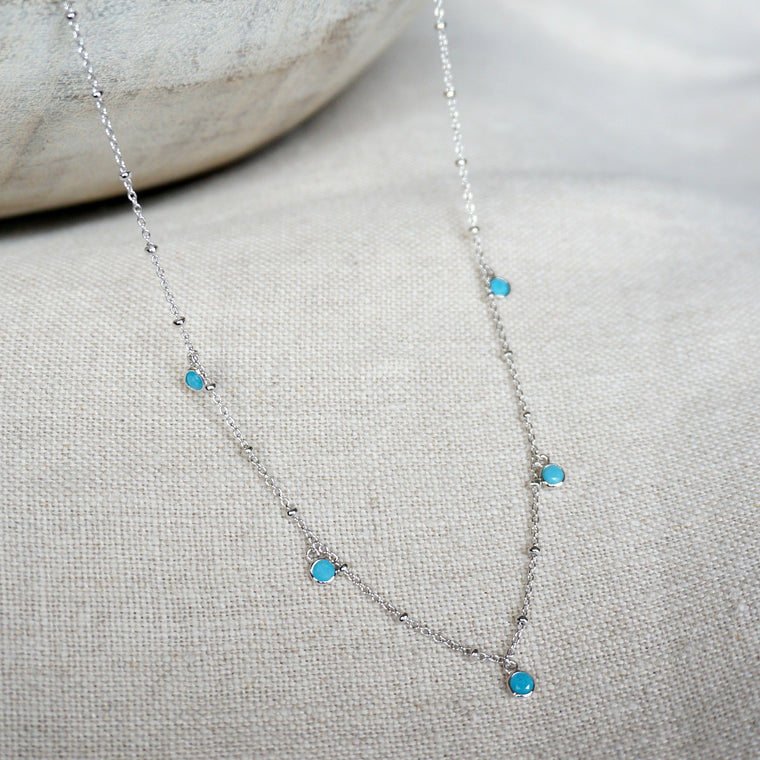Alana Turquoise Shaker Necklace - SOWELL JEWELRY