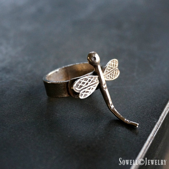 Silver Dragonfly Ring - SOWELL JEWELRY