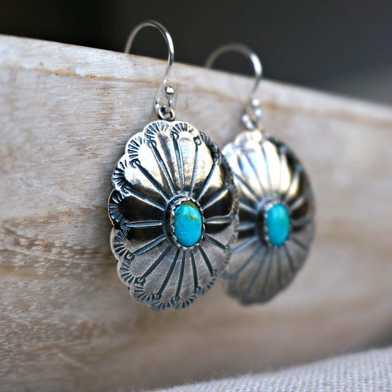 Abeytu Turquoise Earrings - SOWELL JEWELRY