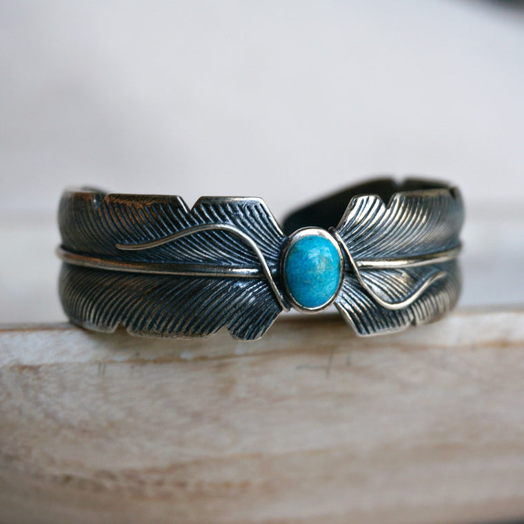 Feather Turquoise Bracelet