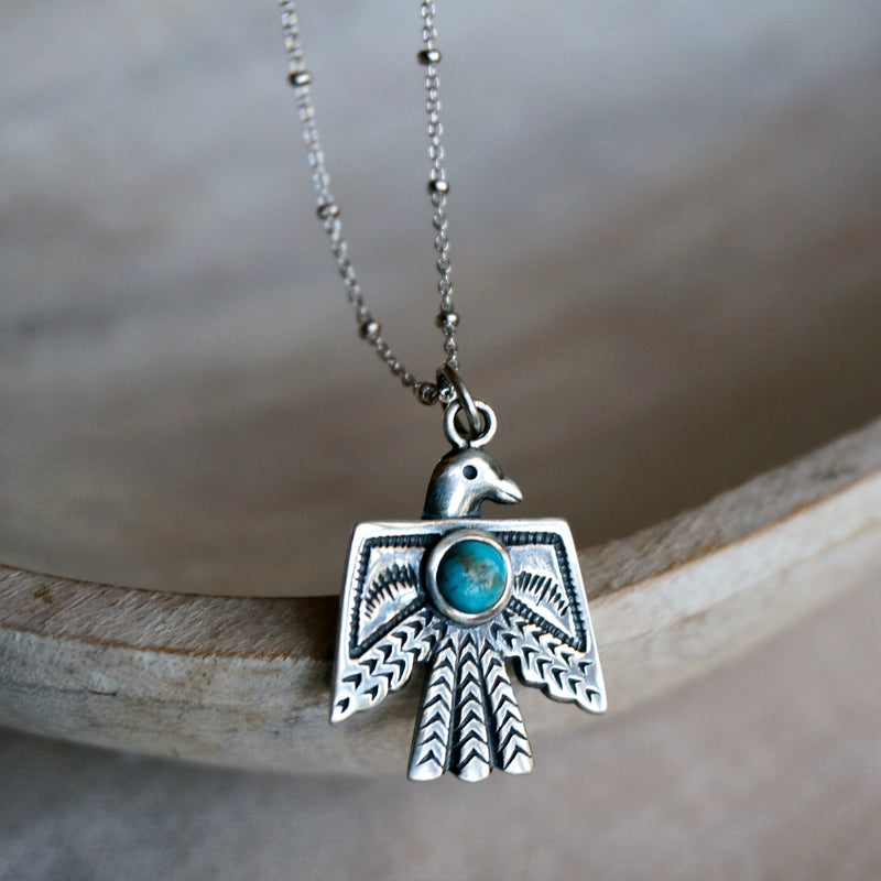 Thunderbird Turquoise Necklace - SOWELL JEWELRY